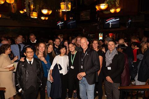 1. IFFR reception @ TIFF - IFFR team in the front, Lucius Barre in the back